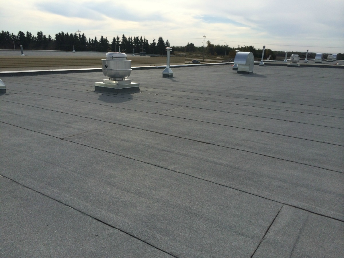 Enoch Community Center - Flat Roof System Completed