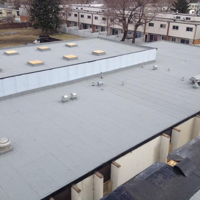 New Flat roof on the Emmanuel Community Church